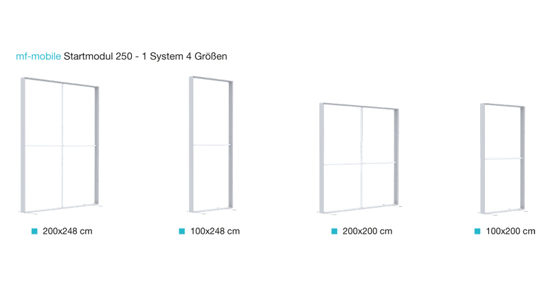 Multi Frame Mobile mf-mobile Startmodul 250 - 1 System 4 Größen