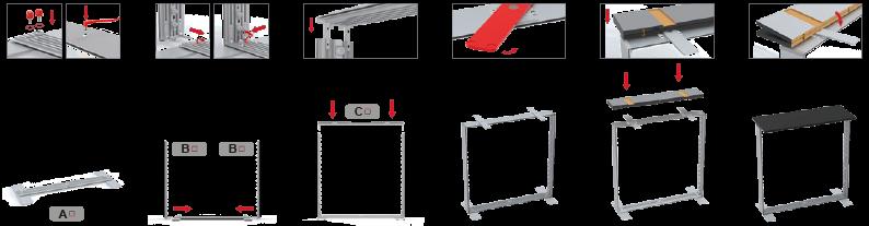Multi frame – LEDUP counter  werkzeugloser Aufbau